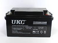 Гелевый аккумулятор UKC 12V 65Ah необслуживаемого типа, низкий уровень саморазряда, 182х168х77мм, 5,3кг