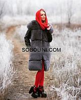 """Шикарное меховое пальто из меха финского песца блюфрост """"Valerie"""", фото 1"""