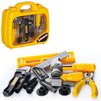 Детский набор инструментов 12768 в чемодане, отвертка, штангенцир, болты, молоток, ключ,
