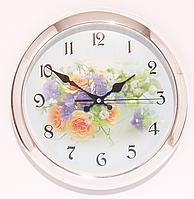 Часы настенные с цветами