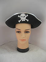Пиратская треуголка с серебристым ободком