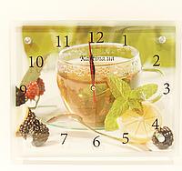 Часы настенные картина 20Х25 с чашкой