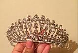 Корона для невесты под серебро, высота 6,5 см., фото 6
