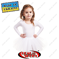 Юбка пачка из фатина детская для танцев и балета. Цвет белый