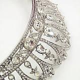Корона для невесты под серебро, высота 6,5 см., фото 3