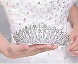 Корона для невесты под серебро, высота 6,5 см., фото 2