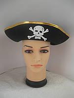 Пиратская треуголка с золотистым ободком, фото 1