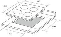 Электрическая варочная поверхность Borgio 6850 inox 4 Electro