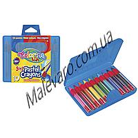 Набор 3в1, карандаши в пластиковом контейнере (масляная пастель+восковые мелки+акварельные карандаши ),  10 цв