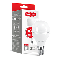 LED лампа MAXUS G45 6W яркий свет 220V E14