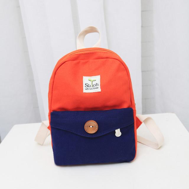 Маленький рюкзак из холста