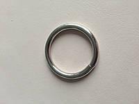 Кольцо сварное, внутренний диаметр 30 мм, толщина 4 мм, цвет - никель, артикул СК 5056