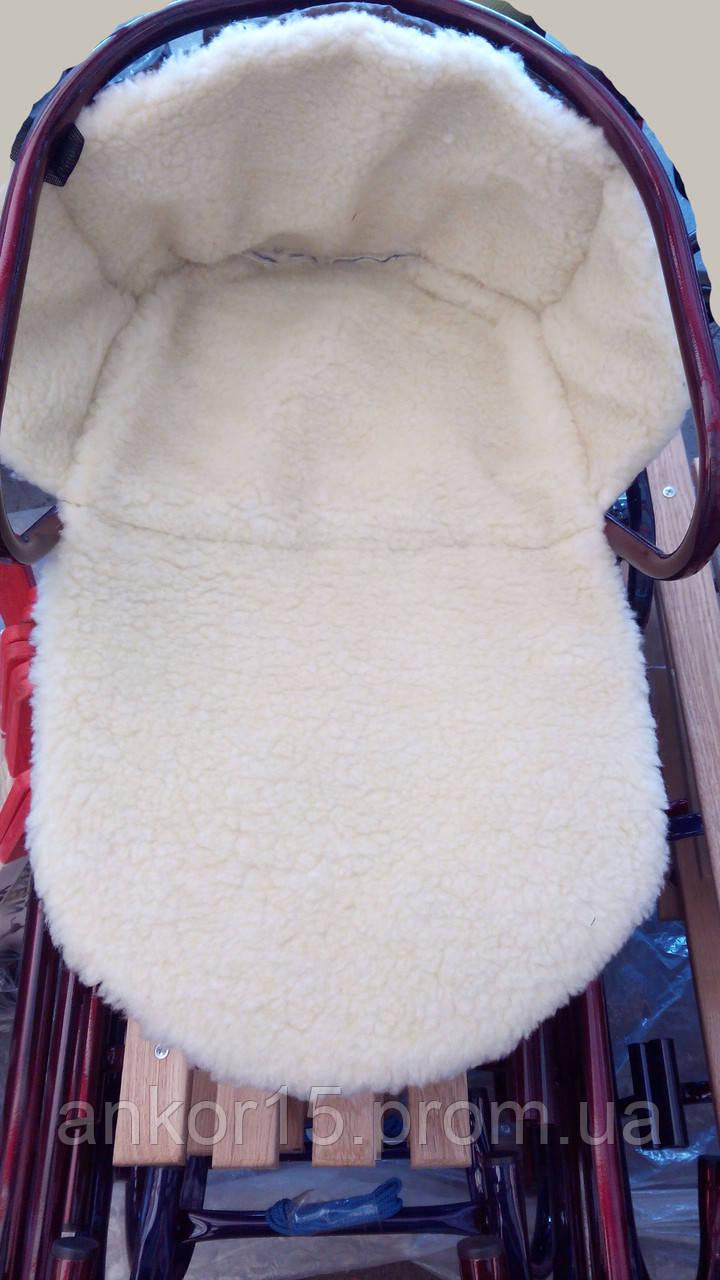Детское зимнее меховое одеяло-подстилка для коляски или санок