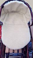 Детское зимнее меховое одеяло-подстилка для коляски или санок, фото 1