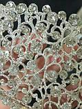 Элегантная свадебная диадема под серебро, высота 6 см., фото 5