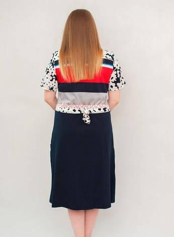 Женский летний халат среднего размера с цветами на руковах, фото 2