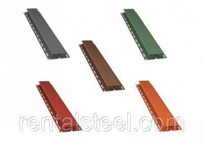 Н-профиль Bryza в цвете: коричневый, красный, графит, зеленый, кирпичный