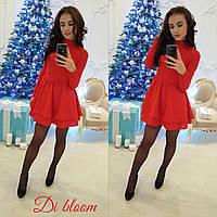Красное платье с подъюбником из фатина (арт. 428878830)