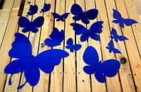 Декор зеркальный пластик виниловые зеркальные наклейки интерьерные бабочки
