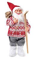 Санта Клаус 60 см с лыжами, Дед Мороз под ёлку