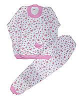 Пижама детская трикотажная с начесом для девочек. размеры 5-6 лет