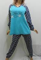 Пижама с длинным рукавом на байке баталл