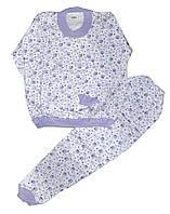 Пижама детская трикотажная с начесом для девочек. размеры 9-10 лет