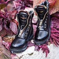 Женские зимние ботинки Balmain кожаные, фото 1