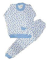 Пижама детская трикотажная с начесом для мальчиков. размеры 9-10 лет
