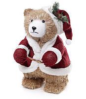 Новогодняя фигура Медведь в наряде Санты 42 см