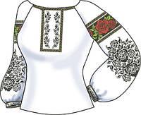 Заготовка вышивки бисером Женская сорочка на льне СВЖБ-55