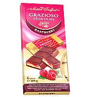 Молочный шоколад Maître Truffout Grazioso с малиновой начинкой, 189 г (6x31,5 г)