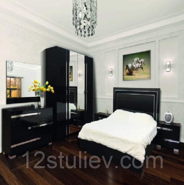 Спальня 4Д  Экстаза черная