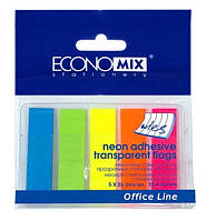 Стикер-закладка (5 неоновых цветов по 25 прозрачных закладок)