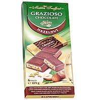 Молочный шоколад Maitre Truffout Grazioso с карамельно-ореховой начинкой, 189 г (6x31,5 г)