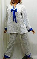 Пижама с длинным рукавом на байке большого размера