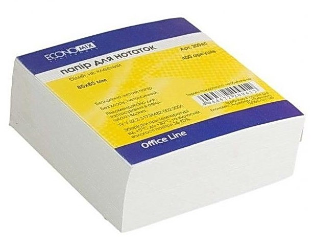 Бумага для заметок Economix E20940 400 листов не склеенная - Ювенком в Днепре