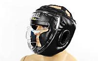 Шлем для единоборств с прозрачной маской FLEX  черный