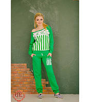 Яркий спортивный костюм женский с принтом звезд и полоски