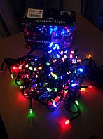 Новогодняя светодиодная гирлянда LED, лед 100,  цветная, на елку, разноцветная, RGB