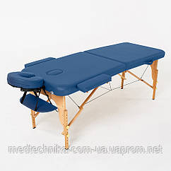 Складной 2-х секционный массажный стол RelaxLine, модель Bali (темно-синий), FMA206A-1.2.3
