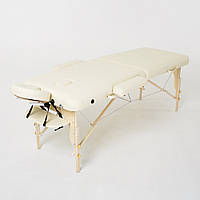 Складной 2-х секционный массажный стол RelaxLine, модель Cleopatra (светло-бежевый), FMA206A-1.2.3 S