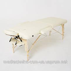 Складной 2-х секционный массажный стол RelaxLine модель Cleopatra (светло-бежевый) FMA206A-1.2.3 S