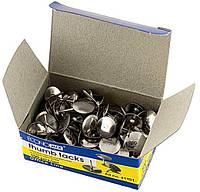 Кнопки канцелярские никель Economix Е41101 100 шт