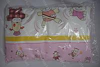 Детская подушка антиалергенная 40х60 см розовая
