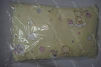 Детская подушка антиалергенная 40х60 см желтая