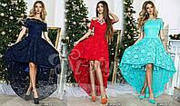 Платье вечернее в пол, Материал: масло+ шифон+ атлас + гипюр + фатин много цветов асич№148-27
