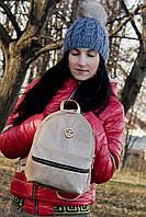 Рюкзак женский VC G015 велюр, бежевый