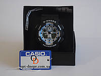 Кварцевые спортивные часы CASIO G-SHOCK GA-100 BLACK-WHITE