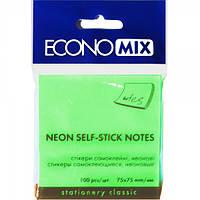 Бумага с липким слоем Economix Е20944-13 100 листов неон салатовая